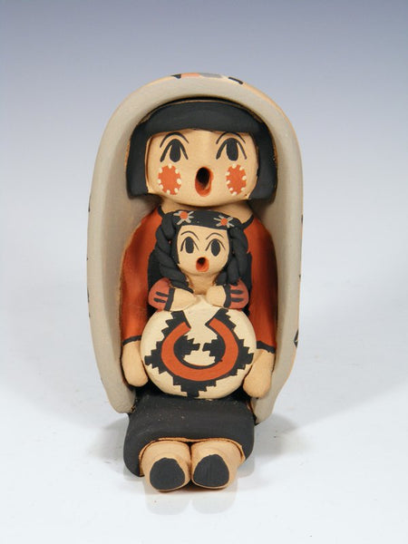 Jemez Pueblo Pottery Single Child Storyteller