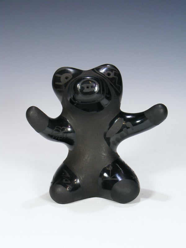 Santa Clara Pueblo Black Pottery Bear Figure