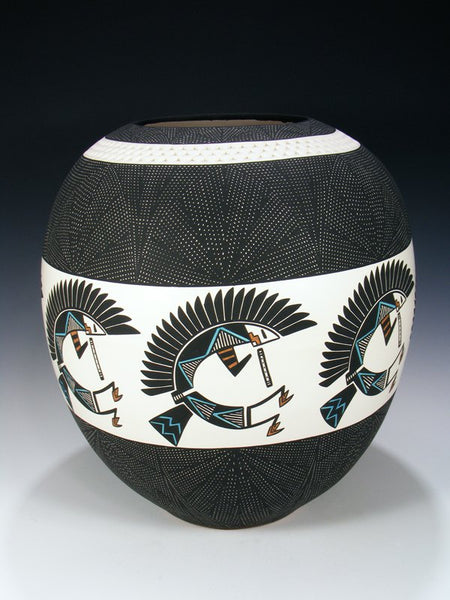Large Laguna Pueblo Hand Painted Pottery