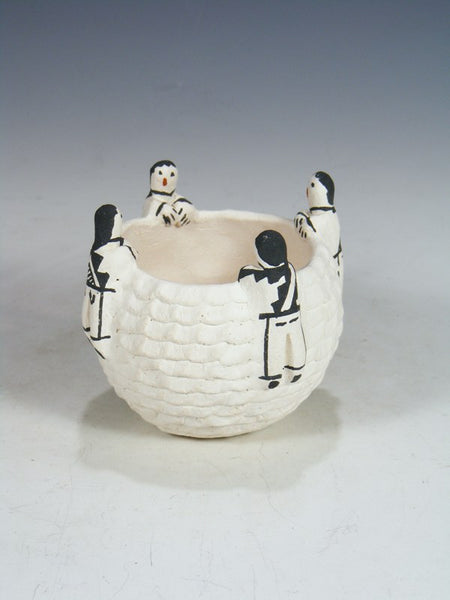 Acoma Pueblo Storyteller Friendship Pottery Bowl