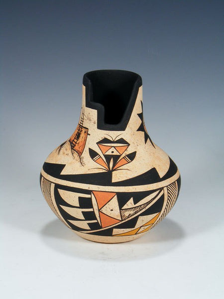 "Hand Coiled ""Pueblo House"" Pottery"