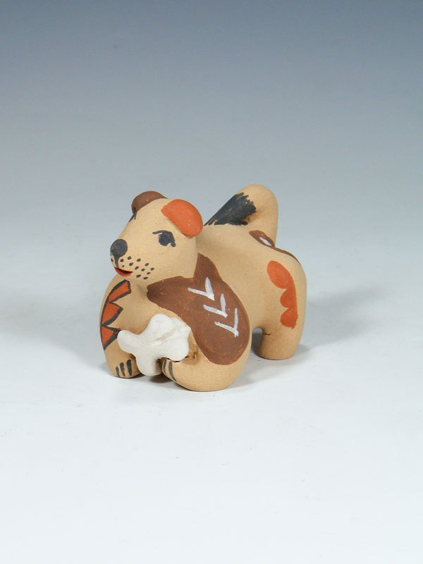 Jemez Pueblo Pottery Puppy Dog Storyteller Doll