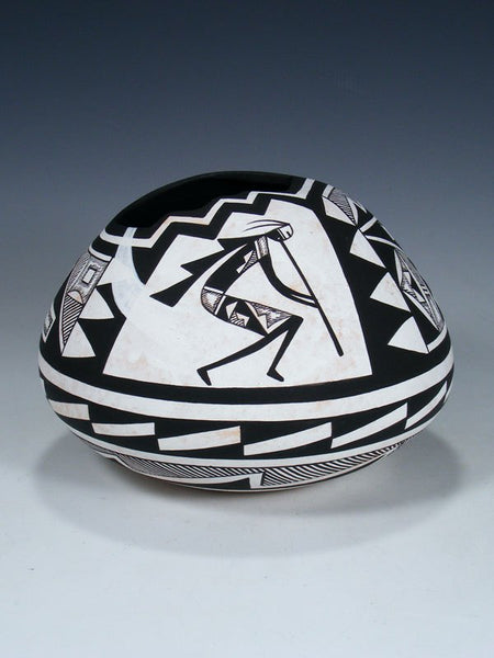 Acoma Pueblo Flute Player Hand Coiled Pottery