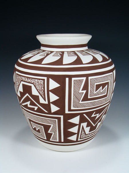 Acoma Pueblo Pottery Painted Geometric Olla