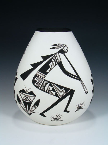 Acoma Pueblo Pottery Painted Kokopelli Pillow Vase