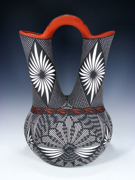 Acoma Pueblo Pottery Fine Line Large Wedding Vase
