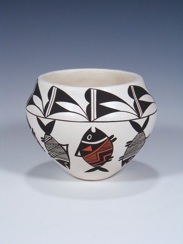 Acoma Pueblo Hand Made Pottery Bowl