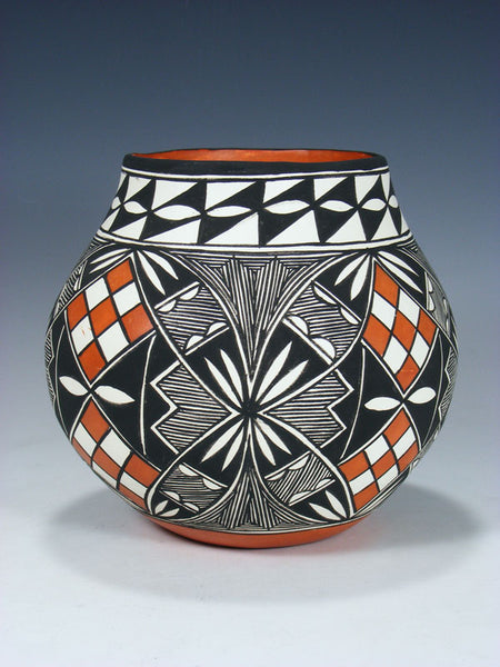 Acoma Pueblo Pot Hand Painted Pottery Bowl