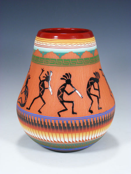 Navajo Etched Kokopelli Pottery