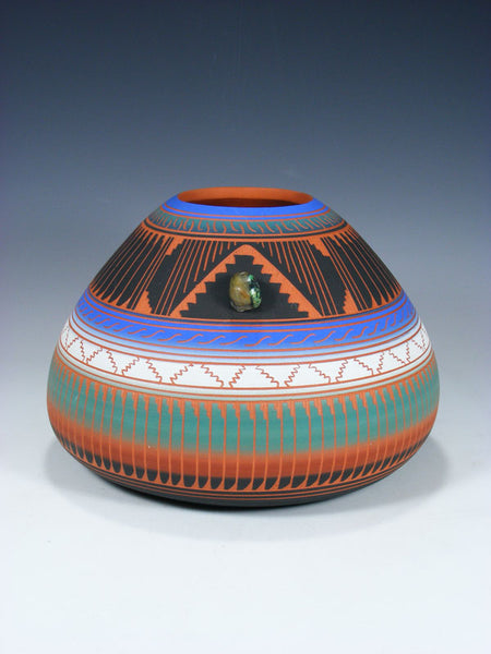 Navajo Etched Pottery Seed Pot