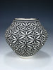 Acoma Pueblo Hand Coiled Geometric Painted Pottery