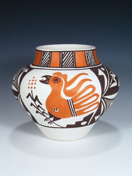Acoma Pueblo Hand Painted Parrot Pottery