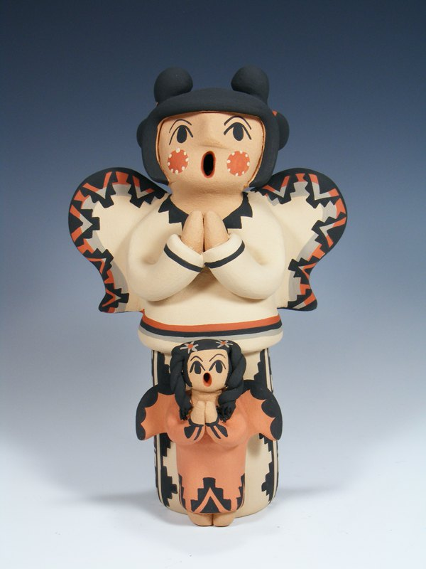 Large Jemez Pueblo Pottery Storyteller Family Angel Doll