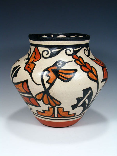 Santo Domingo Pueblo Pottery Painted Bird Vase