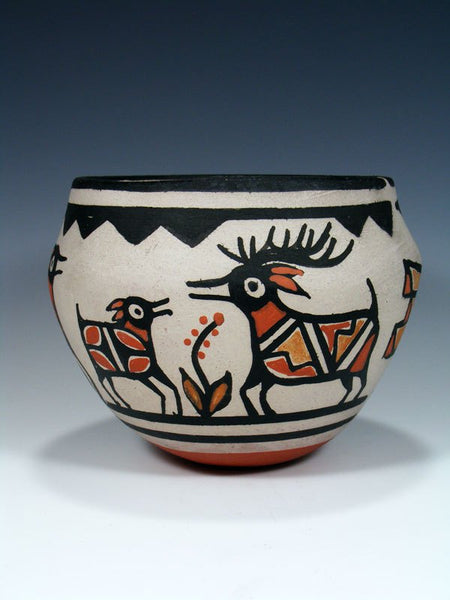 Santo Domingo Pueblo Pottery Wildlife Bowl