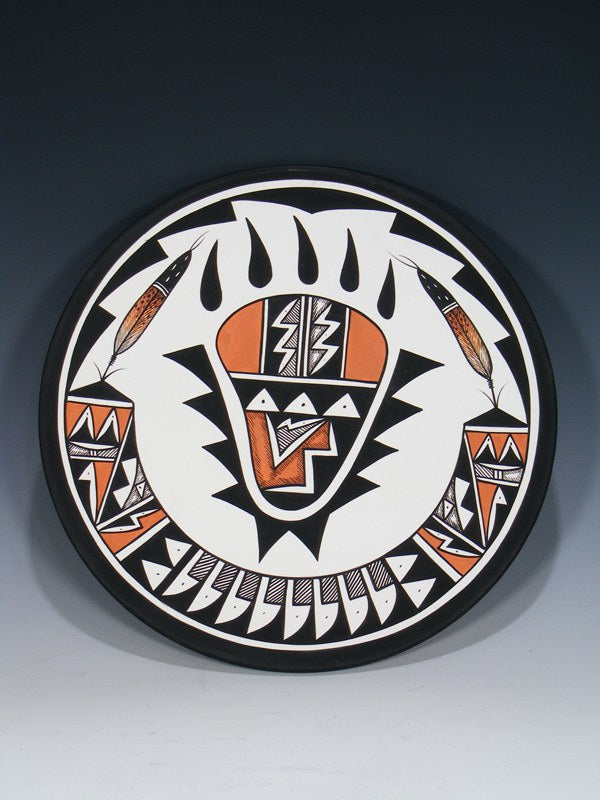 Acoma Pueblo Pottery Painted Plate