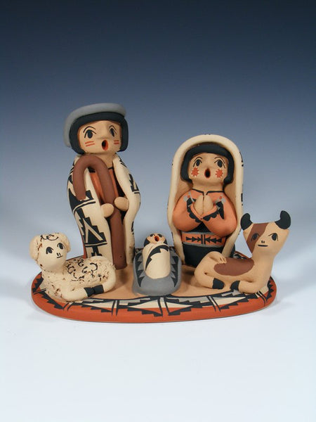 Jemez Pueblo Pottery Nativity Storyteller Set
