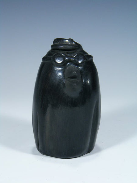 Santa Clara Hand Coiled Black Pottery Bird