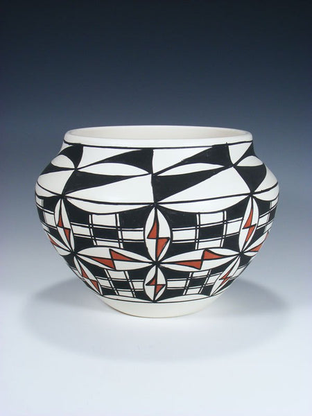 Acoma Pueblo Hand Painted Pottery Bowl