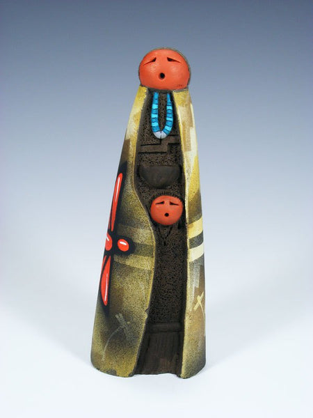 Native American Clay Mother Pottery Figural