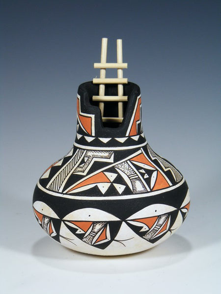 Painted Acoma Pueblo Pottery With Ladder