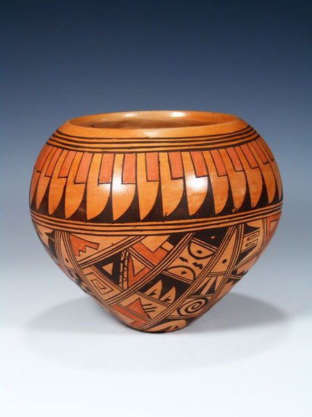 Hopi Hand Coiled Traditional Pottery Vessel
