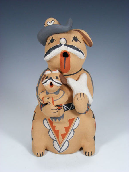Jemez Pueblo Pottery 1 Baby Dog Storyteller Doll