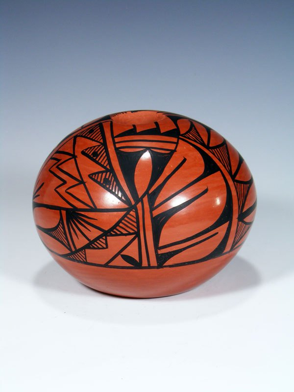 Jemez Pueblo Pottery Red Clay Seed Pot