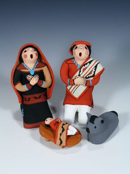 4 Piece Jemez Pueblo Pottery Nativity Set
