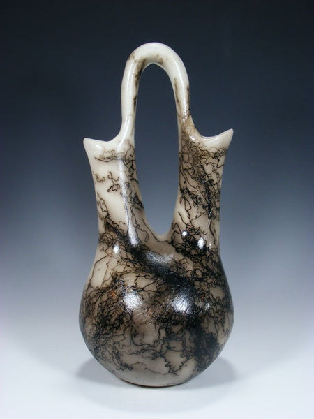 Navajo Horsehair Pottery Wedding Vase