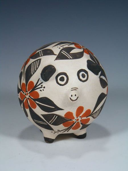 Acoma Pueblo Hand Coiled Pottery Pig