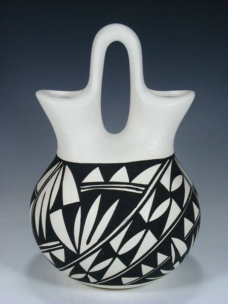 Acoma Pueblo Geometric Pottery Wedding Vase