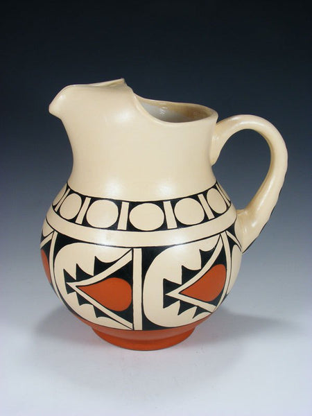 Jemez Pueblo Hand Painted Pottery Pitcher