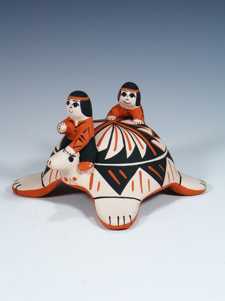 Cochiti Pueblo Turtle Storyteller Family
