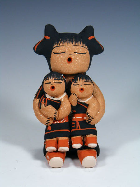 Cochiti Pueblo Two Children Storyteller Family