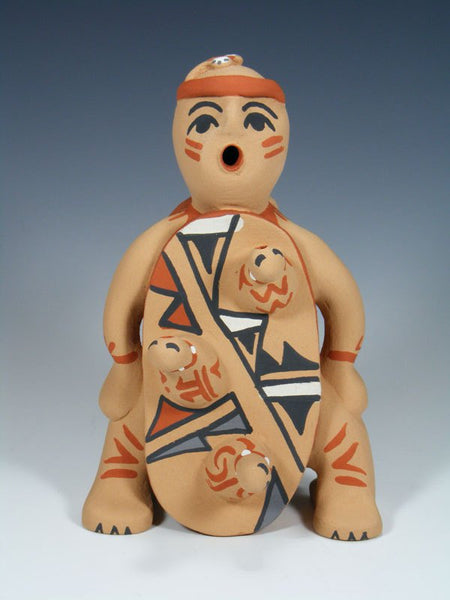 Jemez Pueblo Pottery Reversible Storyteller Turtle Family