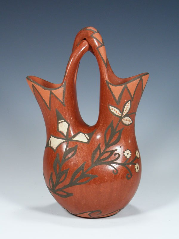 Jemez Pueblo Pottery Hand Coiled Wedding Vase