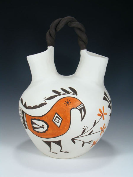 Acoma Pueblo Pottery Hand Coiled Wedding Vase