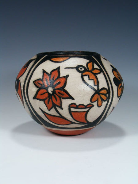 Santo Domingo Pueblo Pottery Hummingbird Bowl