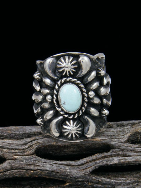 Natural Dry Creek Turquoise Sterling Silver Ring, Size 9