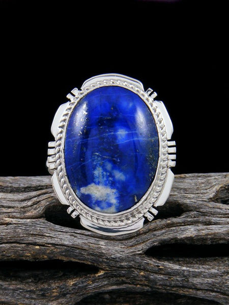 Blue Lapis Ring, Size 8