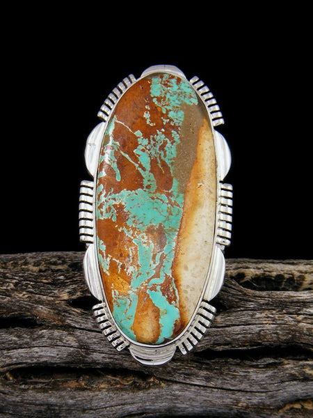 Boulder Turquoise Sterling Silver Ring, Size 7 1/2