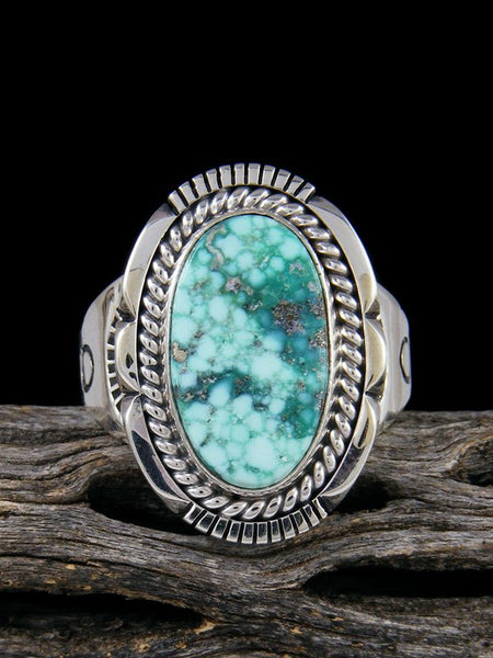 White Water Turquoise Ring, Size 13