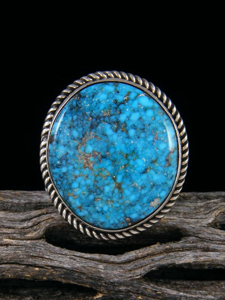 Adjustable Natural Kingman Turquoise Ring, Size 8 1/2