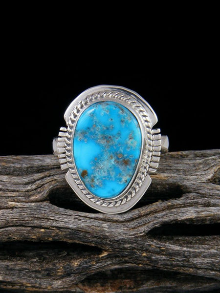 Blue Bird Turquoise Ring, Size 7