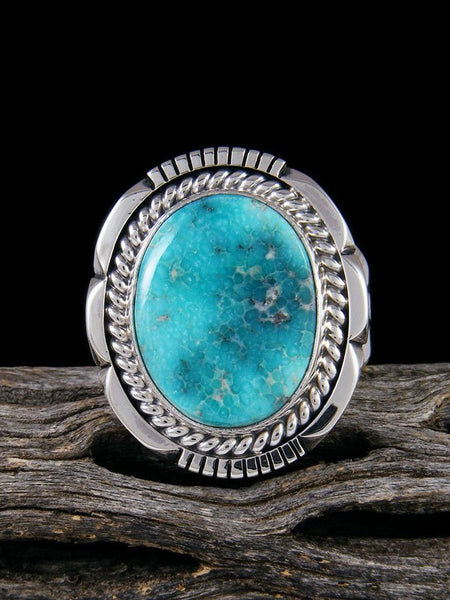 White Water Turquoise Ring, Size 10