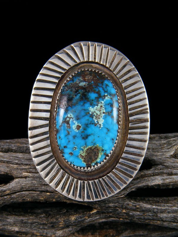 Sterling Silver Egyptian Turquoise Ring, Size 8