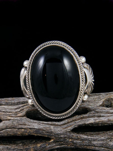 Navajo Onyx Ring, Size 12 1/2