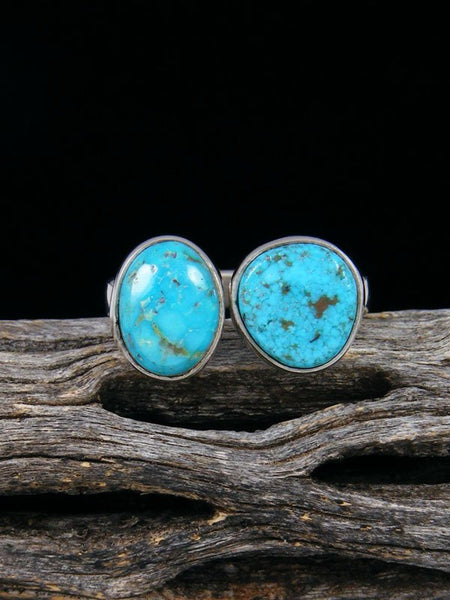 Adjustable Kingman Turquoise Ring, Size 8 1/2 - 9 1/2