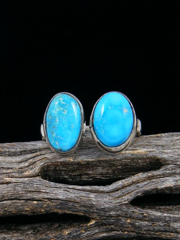 Adjustable Kingman Turquoise Ring, Size 6-7
